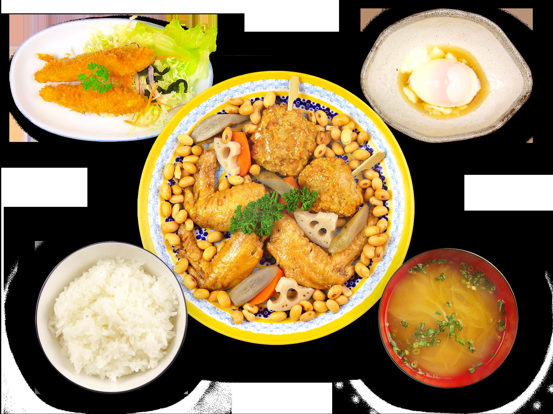 津久井在来大豆のおまめちゃん定食